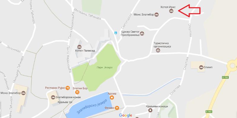 Hotel Iris - mapa